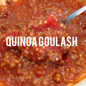 Quinoa Goulash - a healthy twist on a classic favorite. Gluten Free and Dairy Free
