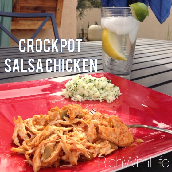 Crockpot Salsa Chicken- Health, Fast, Easy, and Gluten and Dairy Free!