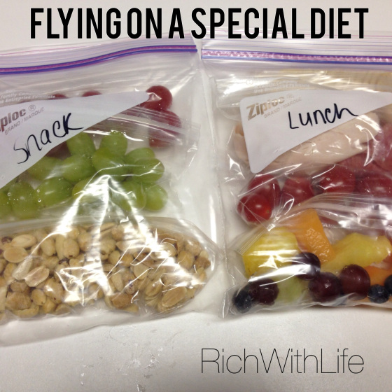 Flying on a special diet, with dietary restrictions, food allergies, on a diet, or just to eat healthier!