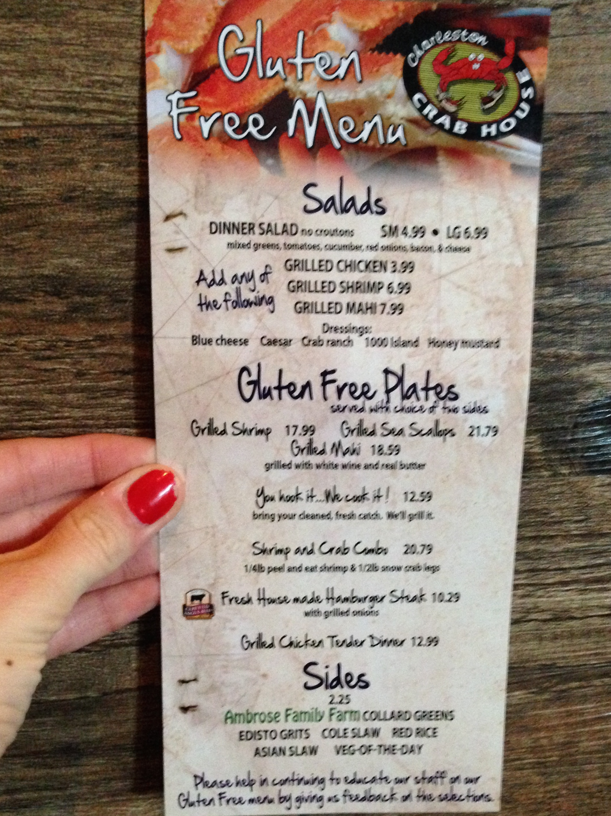 Dining Gluten Free in Charleston SC